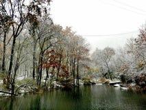 Neige tôt d'hiver à Lianyungang photo stock