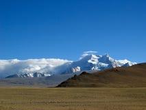 neige Thibet de montagne Image libre de droits