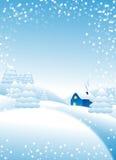 Neige tombant sur les arbres Image stock