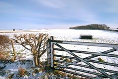 neige Yorkshire de scène Images libres de droits