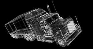 Neigender Lastwagen Lizenzfreies Stockbild