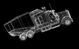 Neigender Lastwagen Stockfotografie