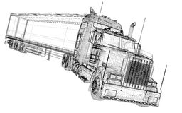 Neigender Lastwagen Stockbild