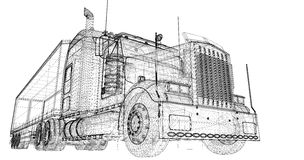 Neigender Lastwagen Lizenzfreie Stockfotos