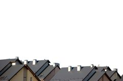 Neighbor Rowhouse apartment rooftops Roof Isolated Stock Photo
