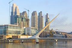 Neighborghood de Puerto Madero, Buenos Aires, Argentina Foto de Stock Royalty Free