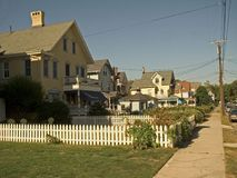 Neighborhood. This is a shot of an old residential neighborhood in Ocean Grove NJ Stock Photography