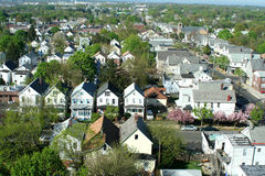 Neighborhood from above Royalty Free Stock Photos