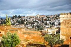 Neighborhood of Albaicin, Granada, Spain Royalty Free Stock Image