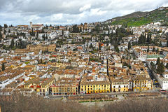 Neighborhood of Albaicin, Granada, Spain Royalty Free Stock Images