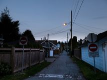 Neighborhood Ally. Quiet and narrow Neighborhood Ally Stock Photos