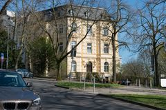 Neighborhood apartment in Aachen royalty free stock image