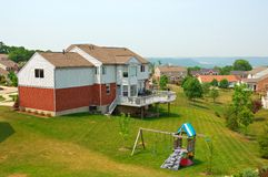 Neighborhood Back Yards Royalty Free Stock Image