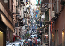 The neighborhood called Quartieri Spagnoli in Naples Stock Image