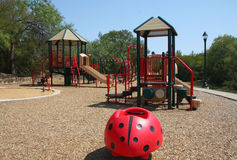 Neighborhood children playground. At the park Royalty Free Stock Photos