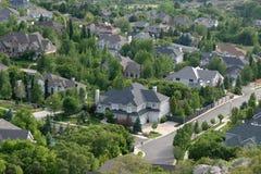 Neighborhood community suburb. Nice homes for nice people to buy in a neighborhood Royalty Free Stock Photography