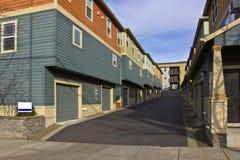 Neighborhood condominiums Saint John Oregon. Royalty Free Stock Images