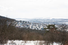 Neighborhood covered with snow Royalty Free Stock Image