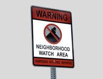 Neighborhood Crime Watch Sign Stock Images