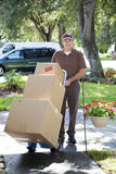 Neighborhood Delivery Man Royalty Free Stock Image