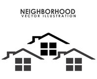 Neighborhood. Design, vector illustration eps10 graphic Royalty Free Stock Photos