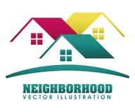 Neighborhood. Design, vector illustration eps10 graphic stock illustration