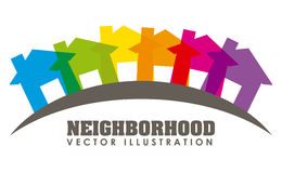Neighborhood. Design, vector illustration eps10 graphic Royalty Free Stock Images