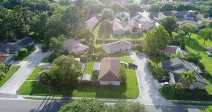 The Neighborhood. A drone shot of an American neighborhood