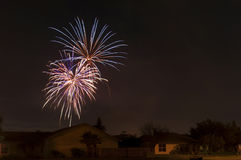 Neighborhood Fireworks Stock Photos
