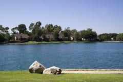 Neighborhood Lake Stock Images