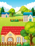 Neighborhood with many houses Royalty Free Stock Photo