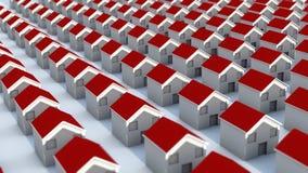 Neighborhood mini houses Royalty Free Stock Photo