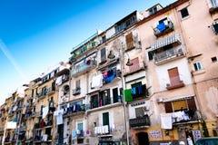 Neighborhood in Naples. Royalty Free Stock Image