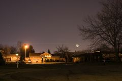 Neighborhood At Night Royalty Free Stock Photo