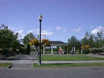 Neighborhood park gazebo Stock Photo