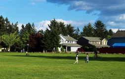 Neighborhood Park. A neighborhood park of the hilly region of Vancouver Washington america Royalty Free Stock Images