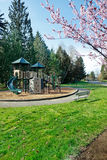 Neighborhood park and playground Royalty Free Stock Image