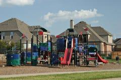 Neighborhood playground. View in Texas Royalty Free Stock Photo