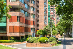 Neighborhood of Providencia commune in Santiago, Chile Stock Photography