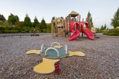 Neighborhood Public Park Children's Playground Stock Photography