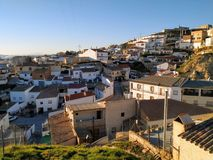 Neighborhood of a small andalusian town stock images