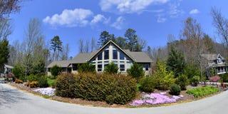 Neighborhood in Spring Royalty Free Stock Image