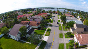 Neighborhood street aerial view Royalty Free Stock Images