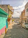 A neighborhood street in Teloloapan, Guerrero. Travel in Mexico stock images