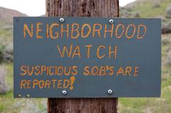 Neighborhood watch sign. Stock Photos