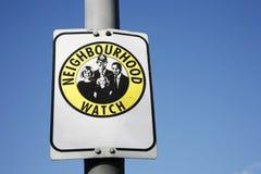 Neighborhood watch sign Royalty Free Stock Photos