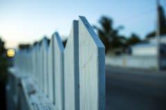 Neighborly fence. My friend Fence on Key West Stock Images