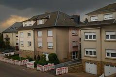 Neighbourhood av staden av Luxembourg fotografering för bildbyråer