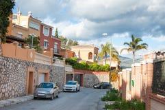Neighbourhood in Malaga, Spain Royalty Free Stock Photography