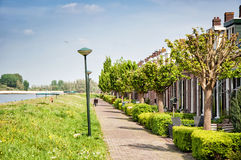 Neighbourhood in the Netherlands, Kinderdijk Royalty Free Stock Photos